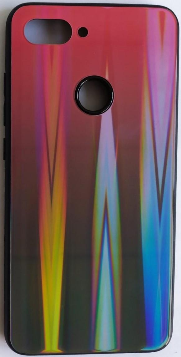 """Силиконовый чехол """"Стеклянный Shine Gradient"""" Xiaomi MI 8 Lite (Ruby Red) №16"""
