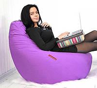 Кресло мешок пуфик груша Золушка фиолетовое XL 120х85 см (1095157461)