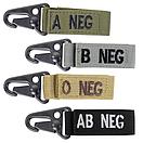 Оригинал Ключница карабин группа крови на ключи Condor Blood Type Key Chain 239 1 (0+), Чорний, фото 2