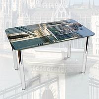 Виниловая наклейка на стол Солнечный Будапешт Архитектура декоративная пленка самоклеющаяся, серый 600*1000 мм
