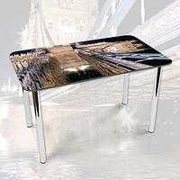 Виниловая наклейка на стол Отражение моста Архитектура декоративная пленка самоклеющаяся, серый 600*1000 мм