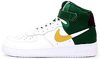 Мужские кроссовки Nike Air Force 1 High NBA Celtics White/Green высокие Найк Аир Форс НБА Селтикс белые