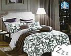 Комплект постельного белья Микроволокно HXDD-810 M&M 6680 Зеленый, Белый, фото 2