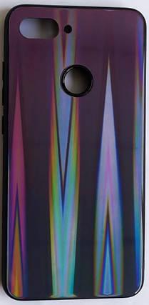 """Силиконовый чехол """"Стеклянный Shine Gradient"""" Xiaomi Mi 8 Lite (Violet Barca) №8, фото 2"""
