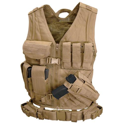 Оригинал Тактический розгрузочный жилет молле Condor Crossdraw Vest CV X-Large/XX-Large, Тан (Tan)