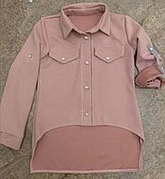 Рубашка замша на девочек 128 /164 см
