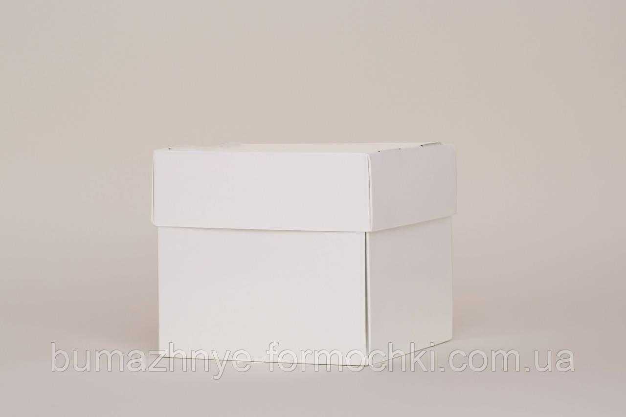 Белая упаковка для бургера Куб, белая, 120х120х80 мм