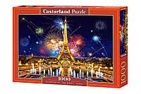 Пазлы Очарование ночей Париж 1000 элементов Castorland