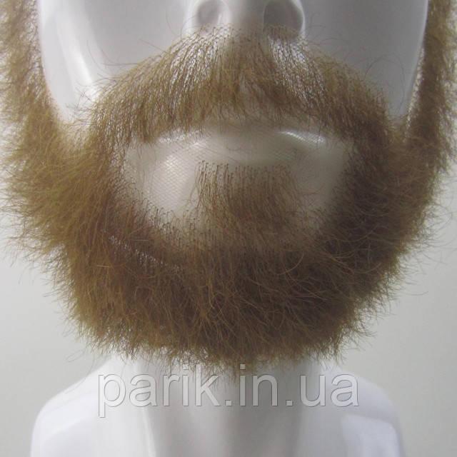 Накладная борода реалистичная купить натуральная профессиональная коричневая