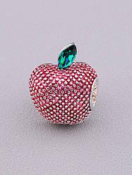 Брошь на одежду яблоко родиевое покрытие XUPING