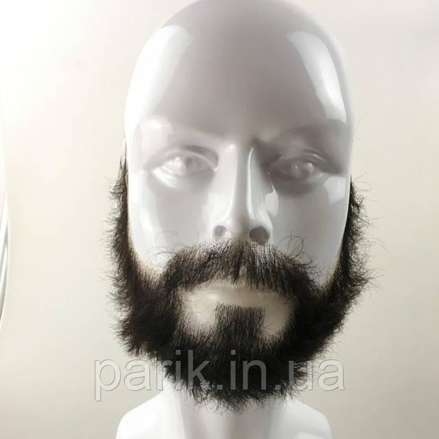 Накладная борода реалистичная купить натуральная профессиональная черный