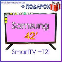 "Телевизор Samsung  42"" DVB-T2, SmartTV USB, WI-FI, Телевизор Самсунг 42 дюйма фабричный Китай"