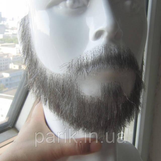 Накладная борода реалистичная купить натуральная профессиональная серая
