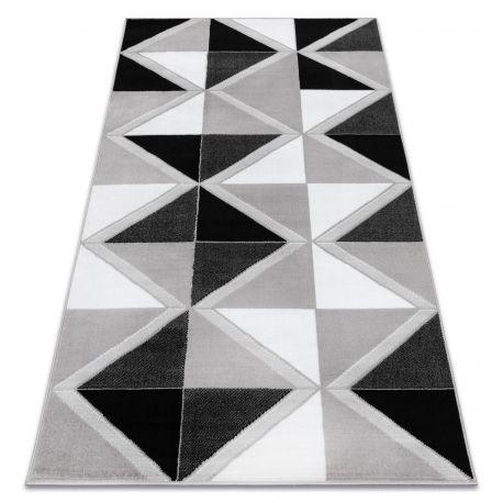 Ковер Лущув BCF 120x160 см серый прямоугольный (OZ106)