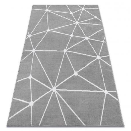Ковер Лущув BCF 120x160 см серый прямоугольный (OZ116)