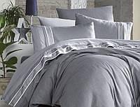 Постільна білизна First Сһоісе Vip Satin Imaj Gri 220-200 см сірий