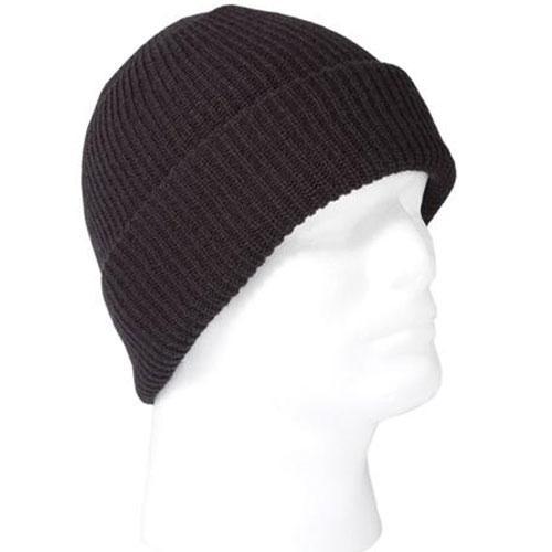 Оригинал Зимняя вязанная шапка HWI Tactical & Duty Watch Cap OSFA WC100 Чорний