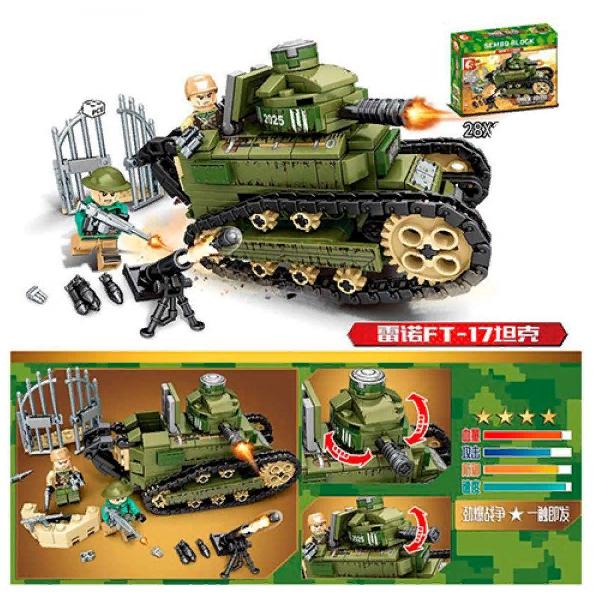 Конструктор Военный танк Sembo Block 368 деталей 101269