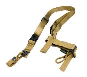 Оригинал Трехточечный оружейный ремень Pantac Tactical 3-point Sling SL-N308, Type II Хакі (Khaki)