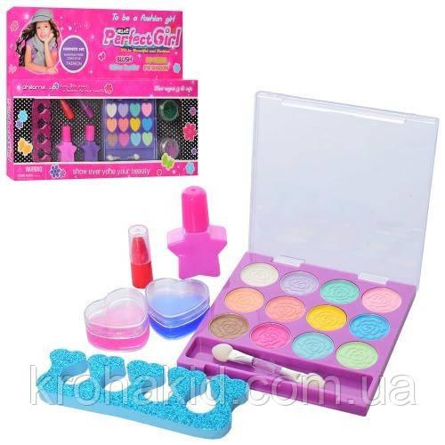 Детская косметика 335-03D: тени, помада, лаки, блестки - набор декоративной детской косметики для девочки