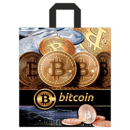 """Пакет петля """"Bitcoin"""" - 40х43, 25шт."""
