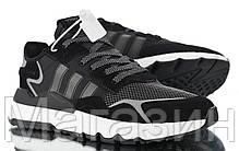 Мужские кроссовки adidas Nite Jogger Black/White (Адидас) черные, фото 3
