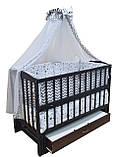 """Кроватка маятник """"Малыш"""" венге без ящика, фото 2"""