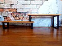 Лавка для прихожей (Полка для обуви) в стиле LOFT (Лофт) (составная), фото 1