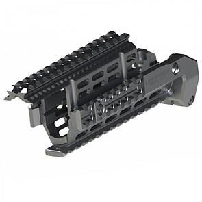 Оригинал Тактическое цевье для АК - IMI AK47/74 Aluminum Rail Platform (Upper&Lower front) ZRP02 ARP2 Чорний