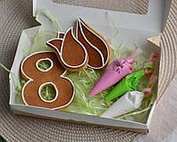 Набор имбирных пряников раскраска на 8 марта