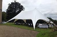 Двухмачтовый шатер Звезда Veranzo 14,00 м. х 7,30 м., белый