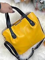 Сумка красивая женская желтого цвета, арт КЛ3217-4