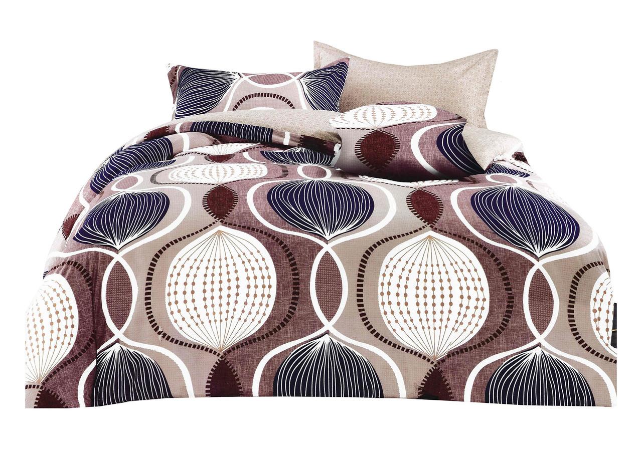 Комплект постельного белья Микроволокно HXDD-797 M&M 6710 Бежевый, Коричневый