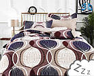 Комплект постельного белья Микроволокно HXDD-797 M&M 6710 Бежевый, Коричневый, фото 2