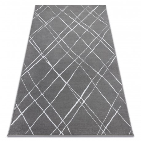 Ковер Лущув BCF 200x300 см серый прямоугольный (OZ022)