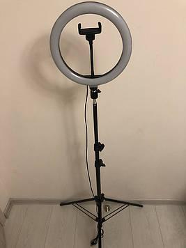Професійна кільцева світлодіодна LED лампа 26см 20 ват з тримачем для телефону і штативом