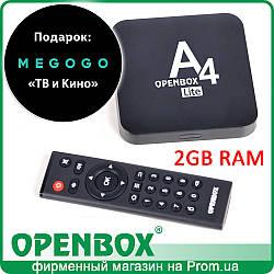 IPTV Android медиаплеер Openbox A4 Lite (Megogo.net 1 мес)
