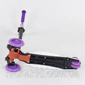 """Самокат-кикборд  А 25528 /779-1326 MAXI """"Best Scooter""""  4 колеса PU. СВЕТ, d=12см, фото 2"""