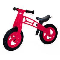 """Беговел """"Cross Bike"""" с надувными шинами, 12"""" (малиновый) Kinderway"""