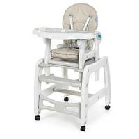 Детский стульчик для кормления трансформер на колесиках M 1563-11