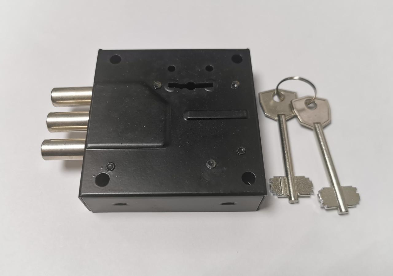 Замок накладной SR 500 3 ригельный для сейфа 2 ключа