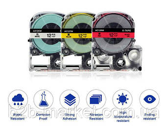 Картридж зі стрічкою для Epson LW-300, LW-400, LW-700 12mm
