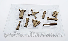 Пластиковая форма для шоколада Автомобильные инструменты