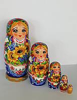 Украинская расписная матрёшка, из 5-ти штук средняя 532