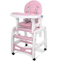 Детский стульчик для кормления трансформер на колесиках M 1563-8-1