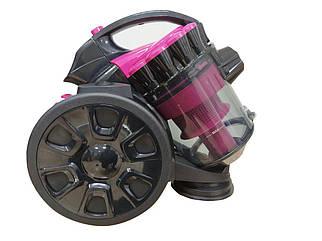 Пылесос GRANT GT-1605 3000 ВТ контейнерный 2,5 литра, пылесос циклон Грант без мешка Розовый