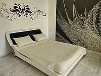 Покрывало бежевое двуспальное на кровать и диван 240*180 см, Vintage