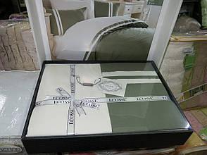 Постельное белье Ecosse Ranforce 200х220 Yesil-krem, фото 2