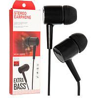 Наушники с микрофоном (гарнитура) D21 черные