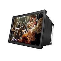 Увеличитель экрана F2 Black ПВХ ABS для мобильных камера с линзой 3-х увеличение для просмотра фильмов